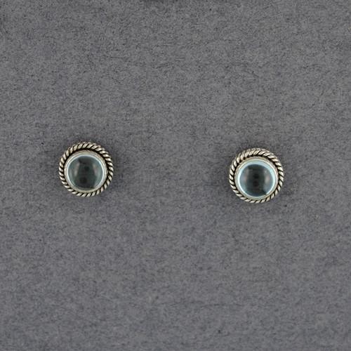 Blue Topaz Rope Post Earrings