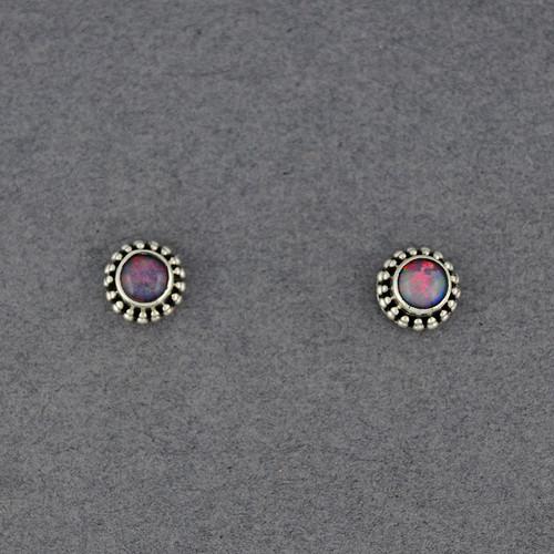 Opal Dotted Post Earrings