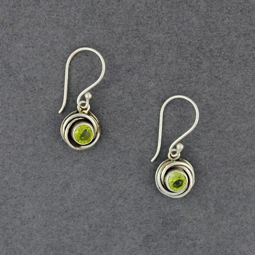 Peridot Wrapped Border Earrings