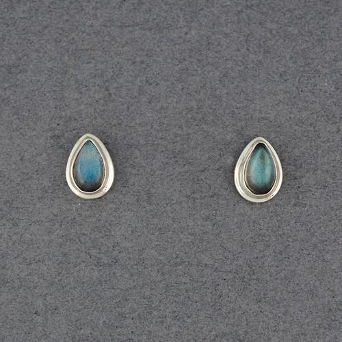 Labradorite Teardrop Post Earrings