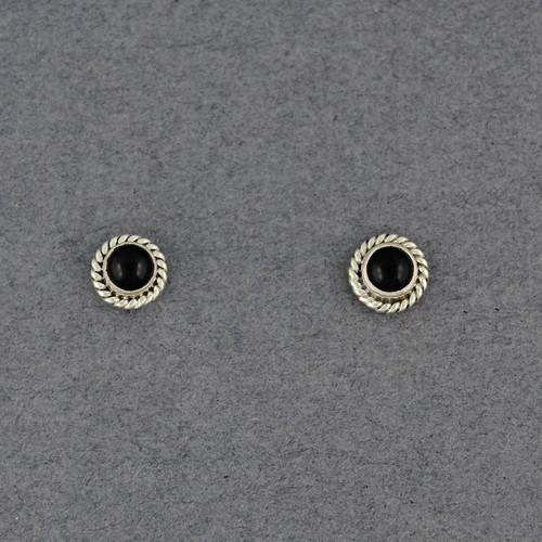 Onyx Twist Post Earrings