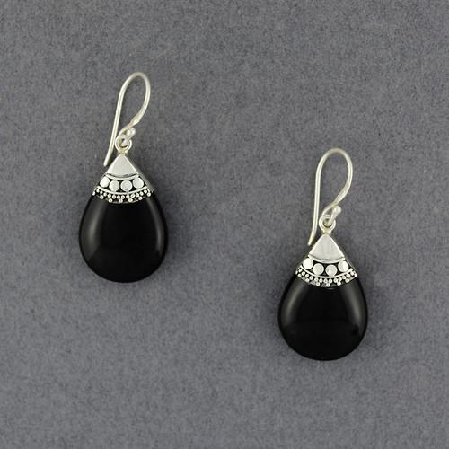 Onyx Multi Dot Teardrop Earrings