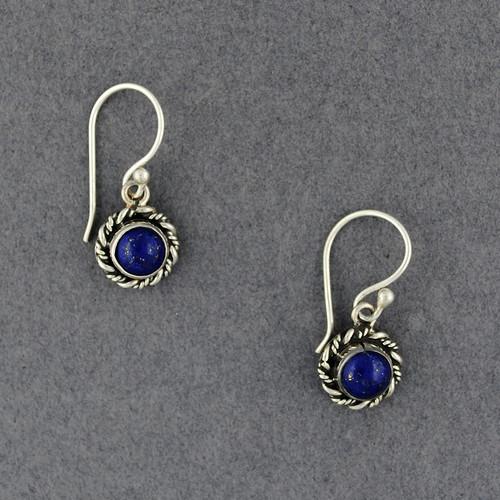 Lapis Twisted Border Earrings