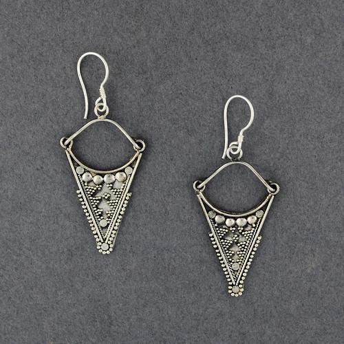 Sterling Silver Ornate Arrow Earrings