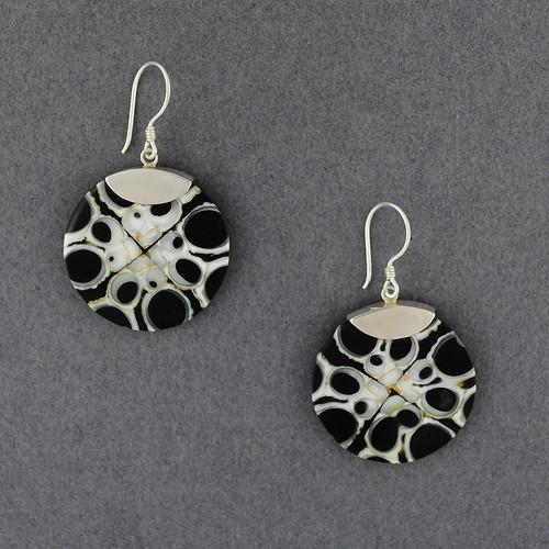 Black & White Shell Inlay Earrings