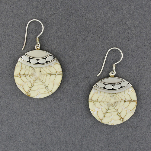 White Shell Inlay Earrings