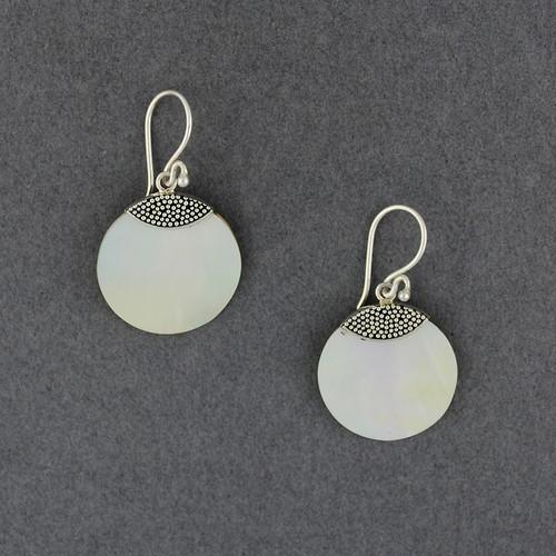 Mother of Pearl Mini Dots Earrings