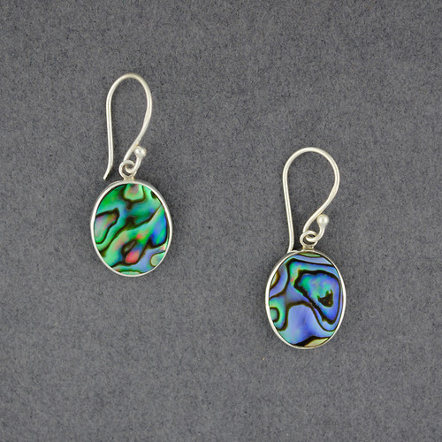 Abalone Simple Oval Earrings