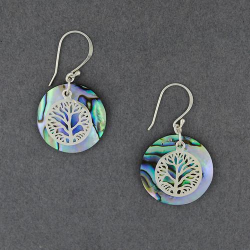 Abalone Tree Earrings