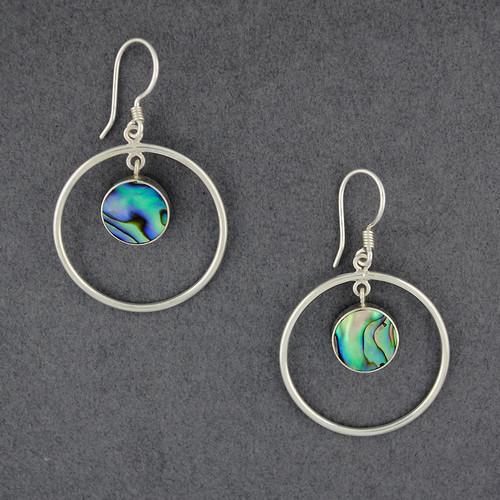 Abalone in Circle Earrings