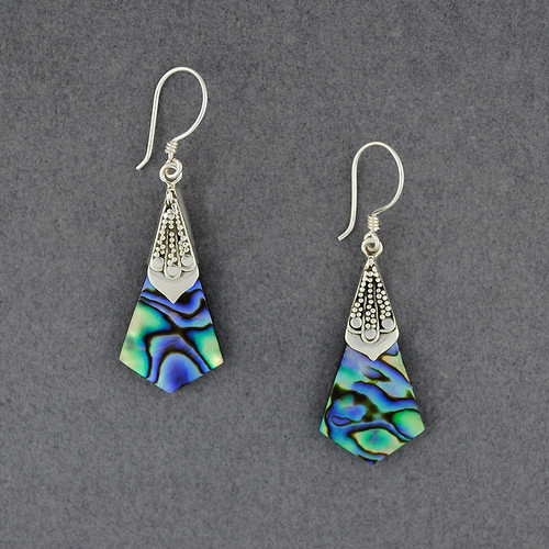Abalone Pointed Drop Earrings