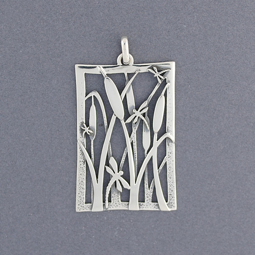 Dragonfly and Reeds Pendant