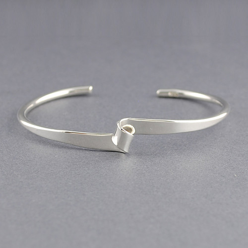 Sterling Silver Thin Looped Cuff