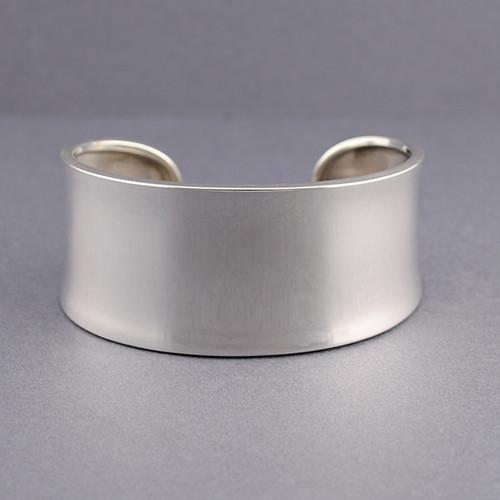Sterling Silver Wide Concave Classic Cuff