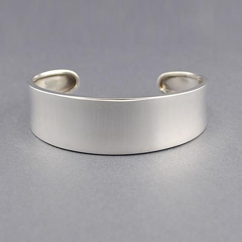 Sterling Silver Concave Classic Cuff