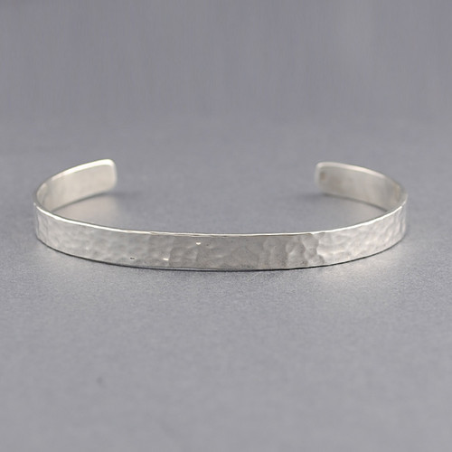 Sterling Silver Classic Hammered Cuff