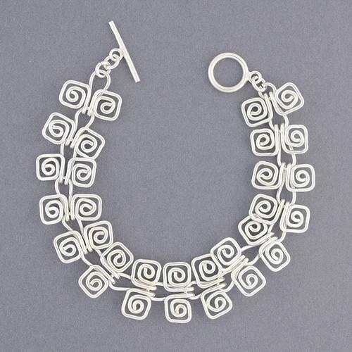 Sterling Silver Spiral Link Bracelet