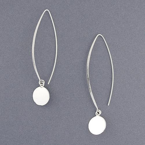 Sterling Silver Dangle Circle Earrings