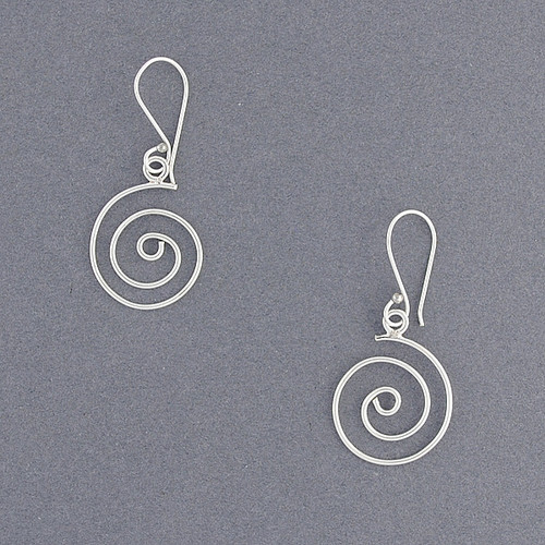 Sterling Silver Classic Spiral Earrings