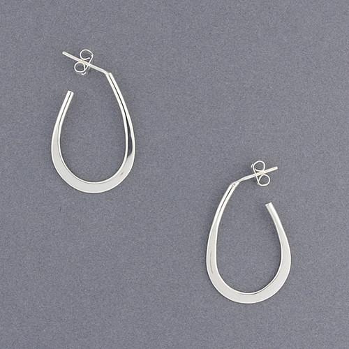 Sterling Silver Oval Hoop