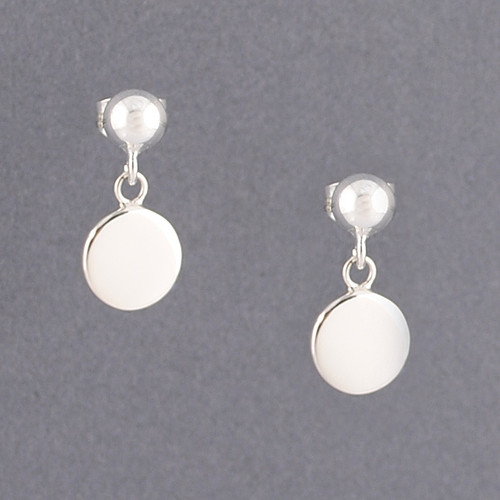 Sterling Silver Ball and Disc Post Earring