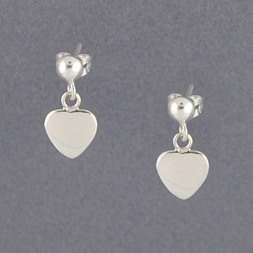 Sterling Silver Small Heart Earrings