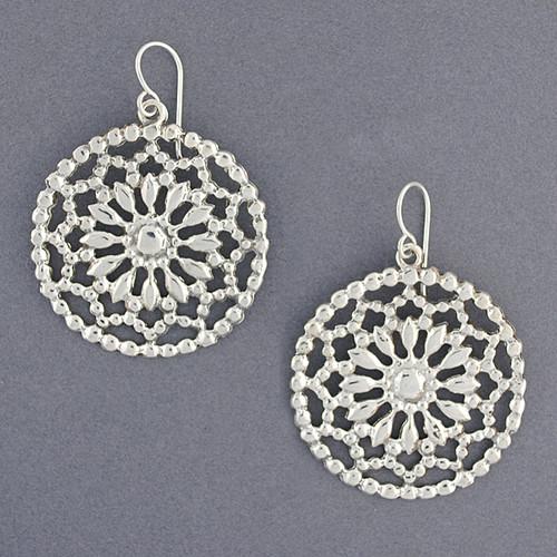 Sterling Silver Dream Catcher Earrings