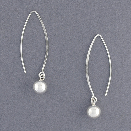 Sterling Silver Sphere Drop Earrings