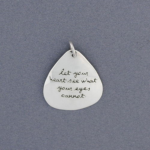 Sterling Silver Quote Pendant