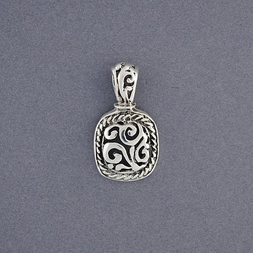Sterling Silver Small Filigree Square Pendant