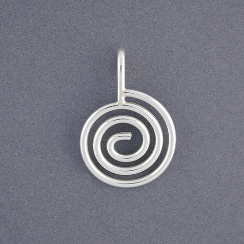 Sterling Silver Classic Spiral Pendant