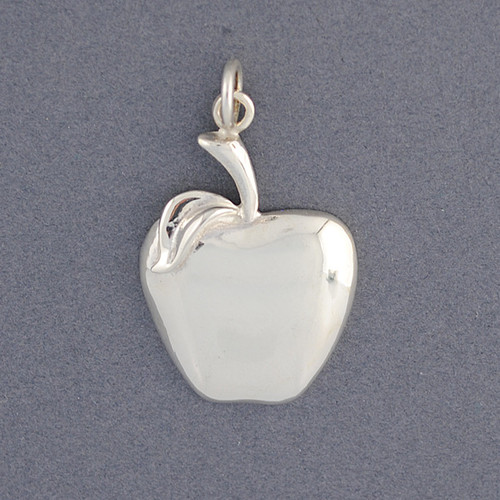 Sterling Silver Apple Pendant