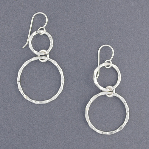 Sterling Silver Thin Hammered Circles
