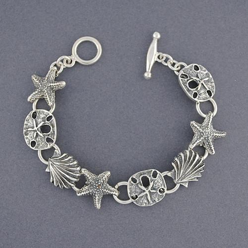 Sterling Silver Sealife Bracelet