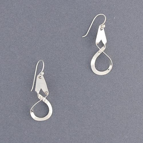 Sterling Silver Small Twist Earring
