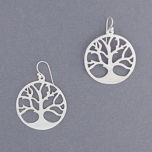 Sterling Silver Tree Earring