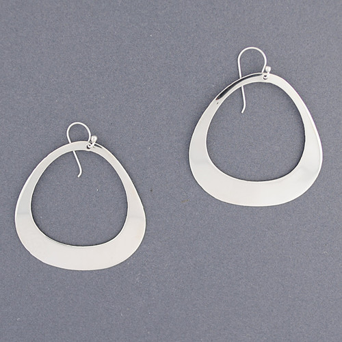 Sterling Silver Rounded Triangle Earring