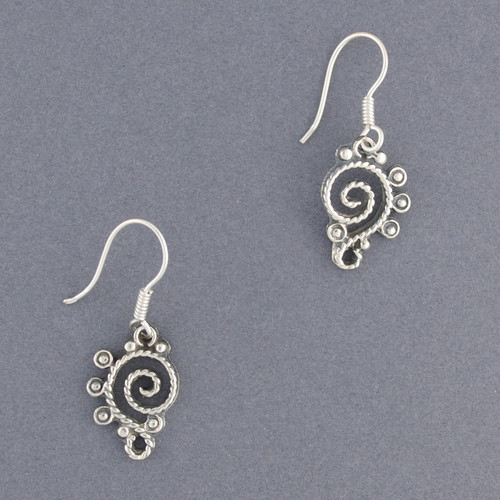 Sterling Silver Antique Rope Earring