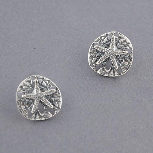Sterling Silver Sand Dollar Post Earring