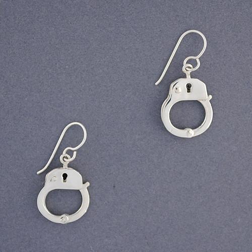 Sterling Silver Handcuff Earrings