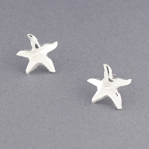 Sterling Silver Large Starfish Post Earring