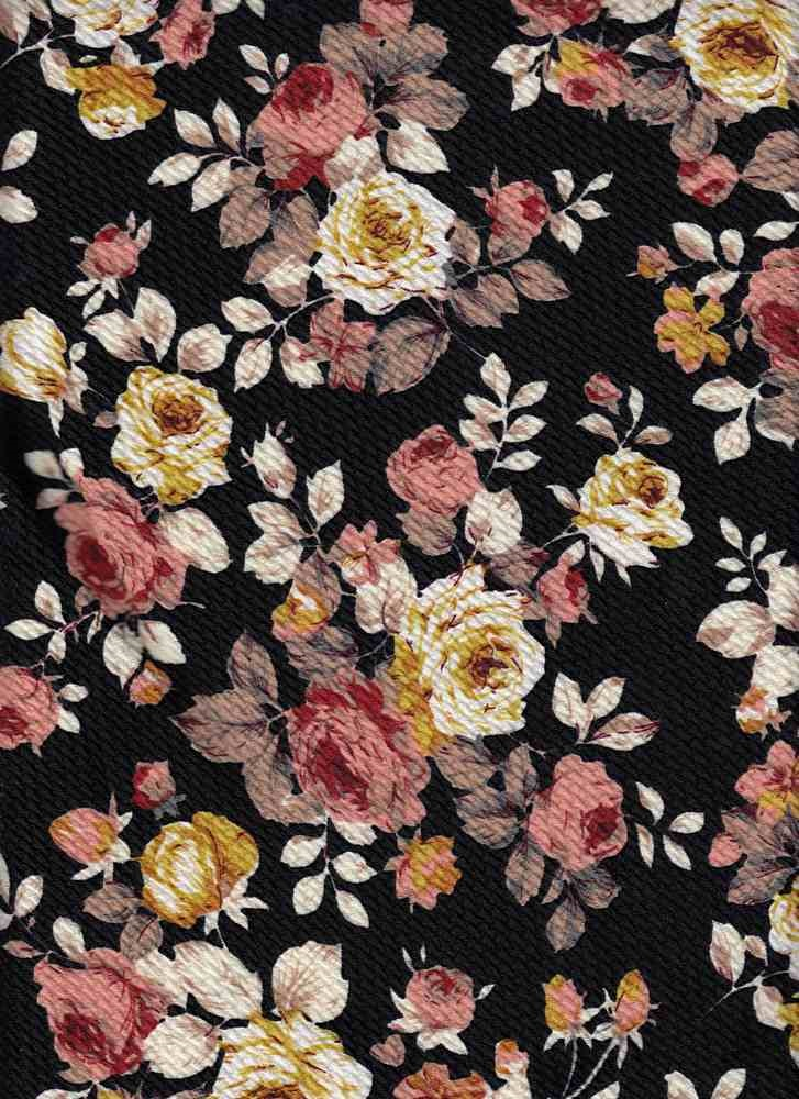 bd7982dd0e5 Black Taupe Floral Fabric   Knit Fabric   Fabricsyard