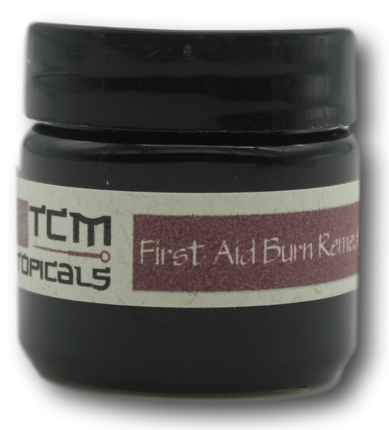 Natural herbal burn salve with pure essential oils of lavender.