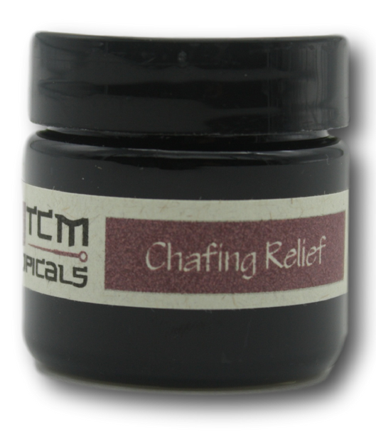 Natural herbal salve for chafed skin such as the inside of thighs after running.