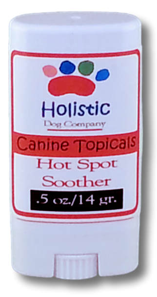 Canine remedy for hot spots and excessive licking with all-natural essential oils and herbs for dogs provides relief and heals