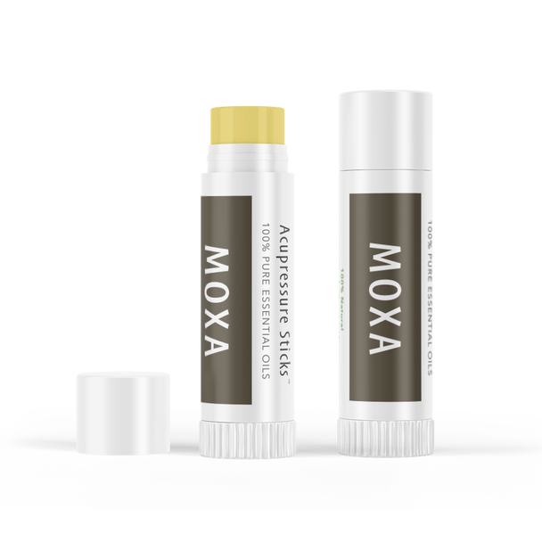 Smokeless moxa acupressure stick with pure essential oils for acupuncture treatments.