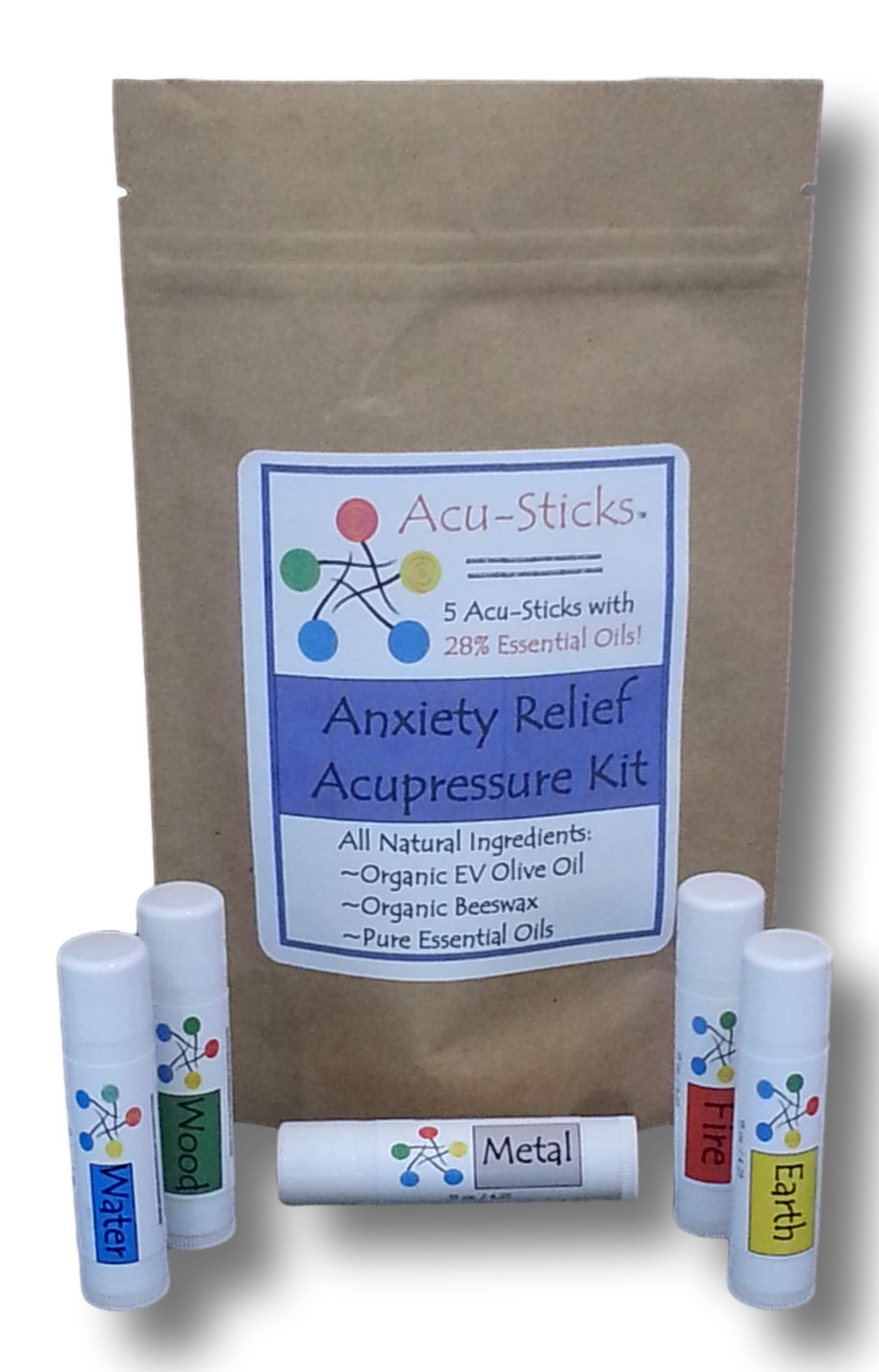 acupressure kit for anxiety with essential oils