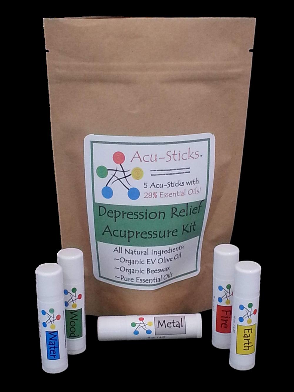 depression-relief-acupressure kit with essential oils