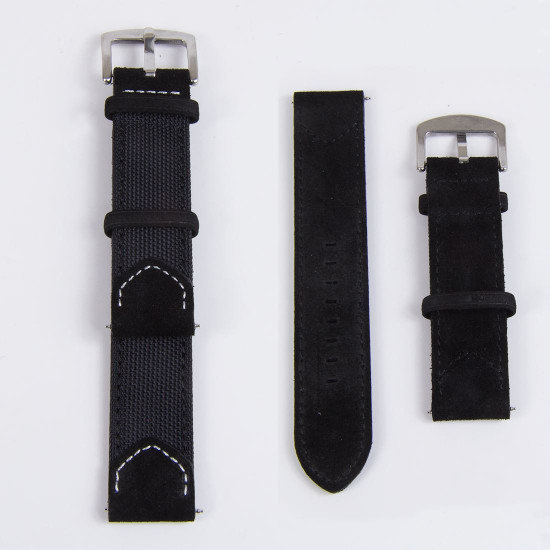 Leather Nylon Hybrid Strap