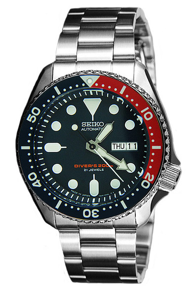 Seiko Automatic Solid Oyster Scuba Divers Watch SKX009J SKX009